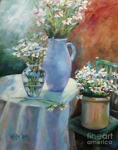 Painting - Garden Daisies by Wendy Ray