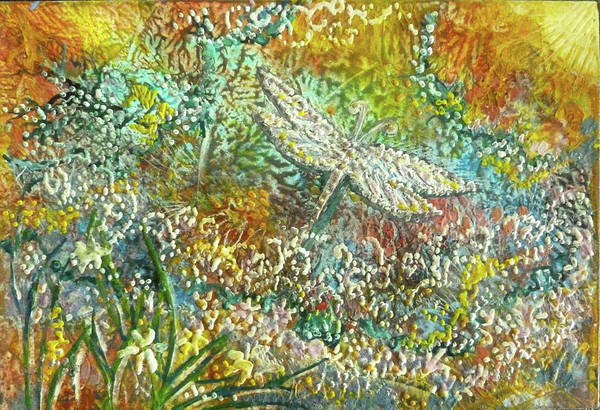 Painting - Garden Dragonfly by Jean Batzell Fitzgerald