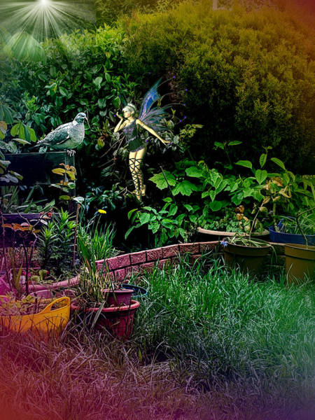 Digital Art - Garden Fairy Fantasy by Robert G Kernodle