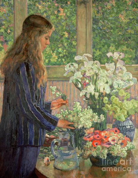 Wall Art - Painting - Garden Flowers by Theo van Rysselberghe