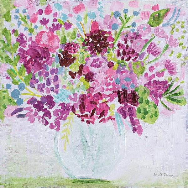 Wall Art - Painting - Garden Fun Bright by Farida Zaman