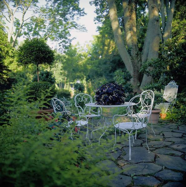 Patio Photograph - Garden Furniture On Patio by Richard Felber