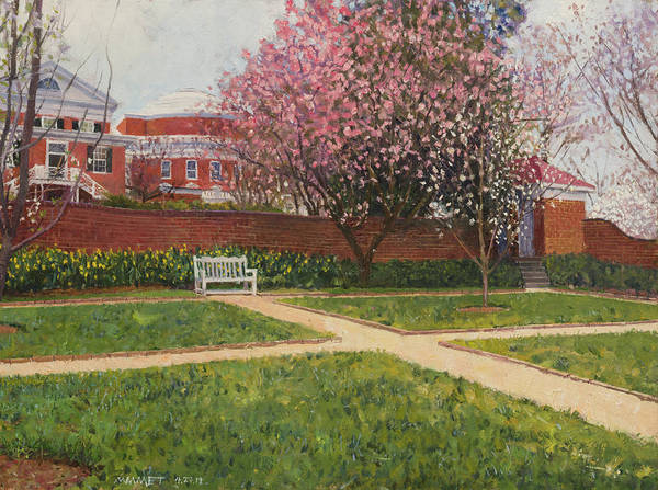 Wall Art - Painting - Garden II, Spring Blossoms by Edward Thomas
