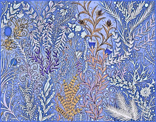 Mixed Media - Garden In Snow by Lise Winne