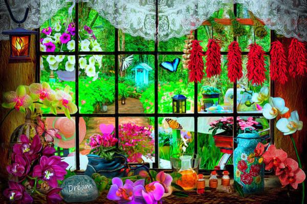Digital Art - Garden Invitation by Debra and Dave Vanderlaan