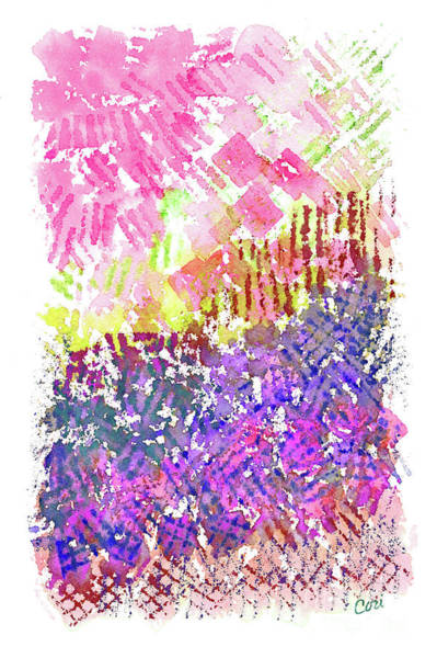 Painting - Garden Of Pink And Purple by Corinne Carroll