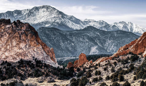 Photograph - Garden Of The Gods And Pikes Peak Mountain Landscape by Gregory Ballos