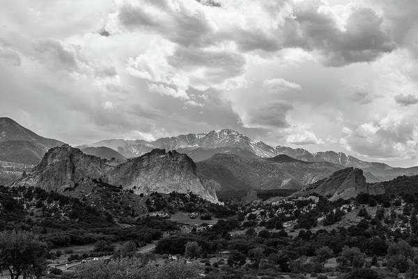 Wall Art - Photograph - Garden Of The Gods Black And White by Michael Hills
