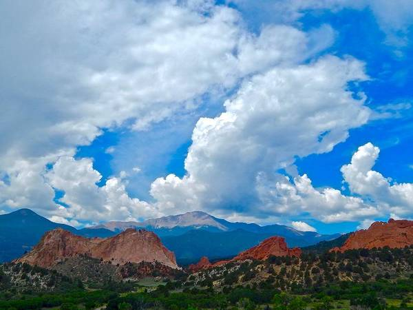 Photograph - Garden Of The Gods Skyscape by Dan Miller