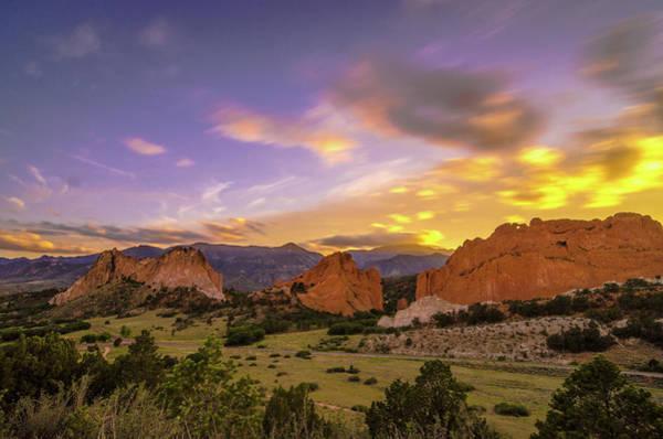 Colorado Photograph - Garden Of The Gods Sunset Nd by Photo By Matt Payne Of Durango, Colorado