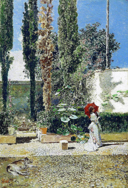 Wall Art - Painting - Garden Of The House Of Fortuny - Digital Remastered Edition by Mariano Fortuny