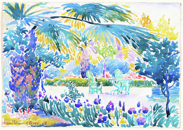 Wall Art - Painting - Garden Of The Painter At Saint Clair - Digital Remastered Edition by Henri Edmond Cross