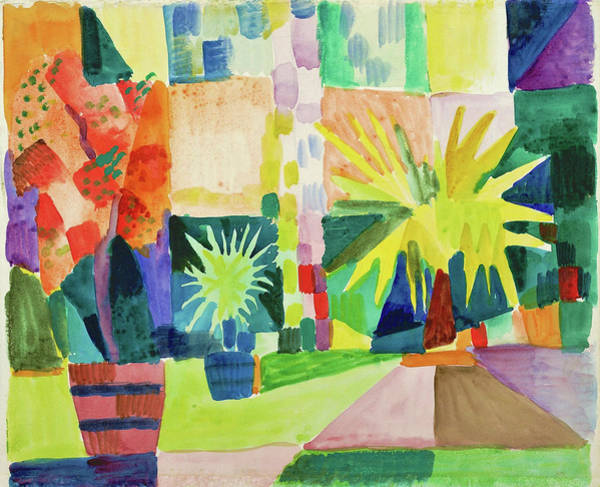 Wall Art - Painting - Garden On Lake Thun - Digital Remastered Edition by August Macke