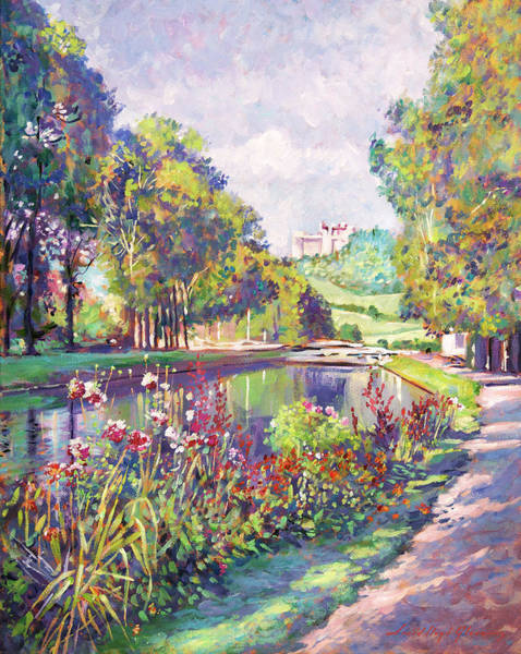 Painting - Garden On The Canal by David Lloyd Glover