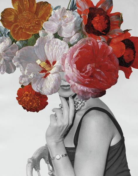 Hibiscus Flower Painting - Garden Party II Crop by Wild Apple Portfolio