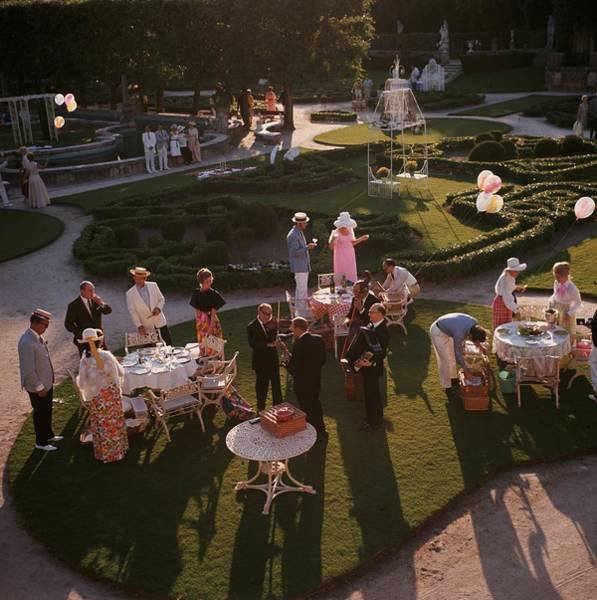 1970 Photograph - Garden Party by Slim Aarons