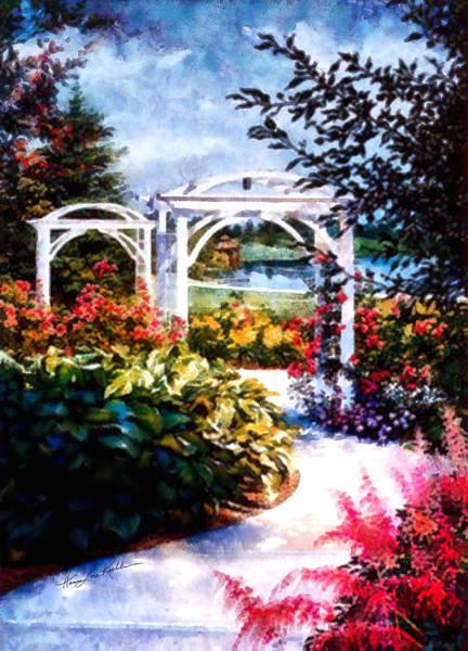 Arbor Painting - Garden Path by Hanne Lore Koehler