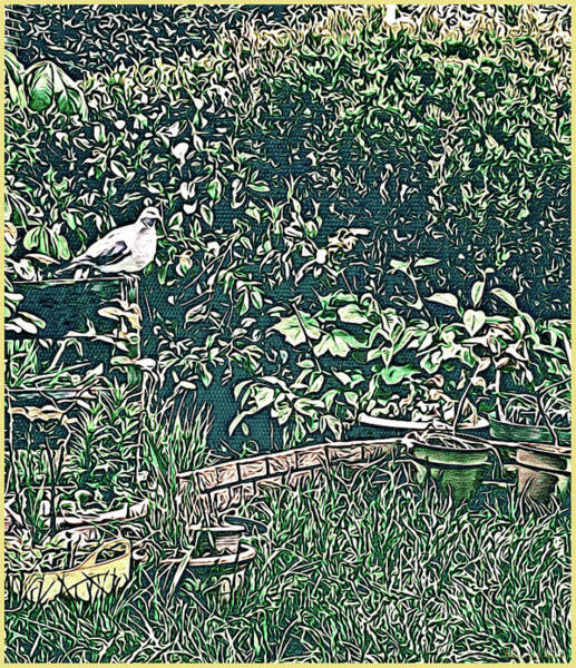 Tapestry - Textile - Garden Pigeon, Abbie Shores Faa Challenge 19 by Lise Winne