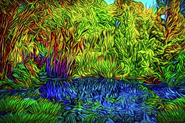 Digital Art - Garden Pond Delights by Joel Bruce Wallach