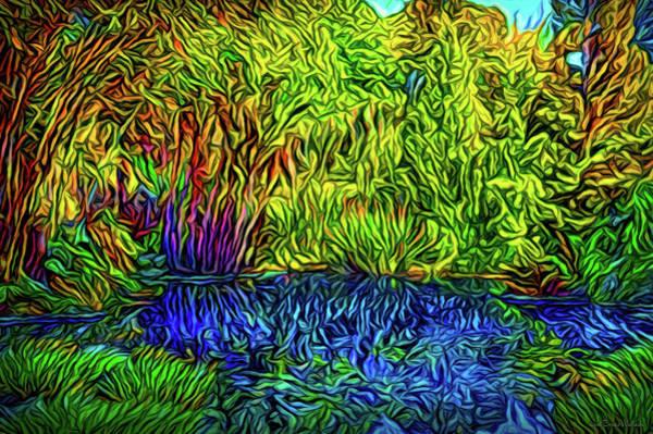 Digital Art - Garden Pond Delights by Joel Bruce Wallach