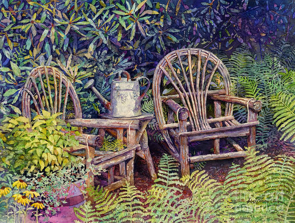 Painting - Garden Retreat by Hailey E Herrera