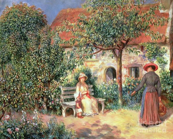 Wall Art - Painting - Garden Scene In Brittany by Pierre Auguste Renoir