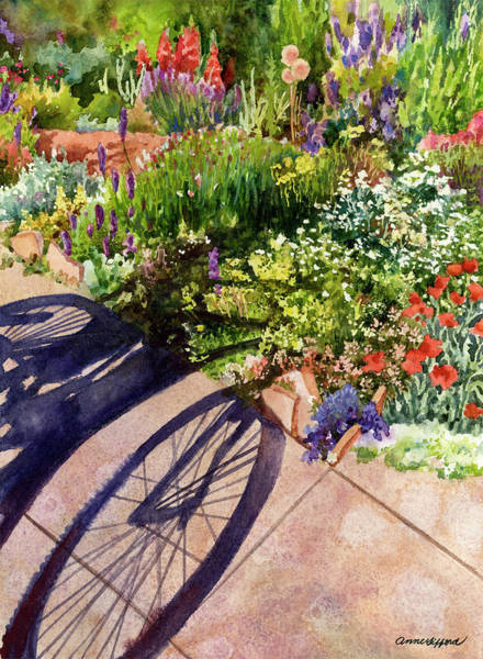 Painting - Garden Shadows II by Anne Gifford