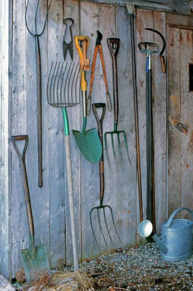 Shovel Photograph - Garden Tools by Richard Felber