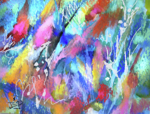 Mixed Media - Garden Twilight by Jean Batzell Fitzgerald