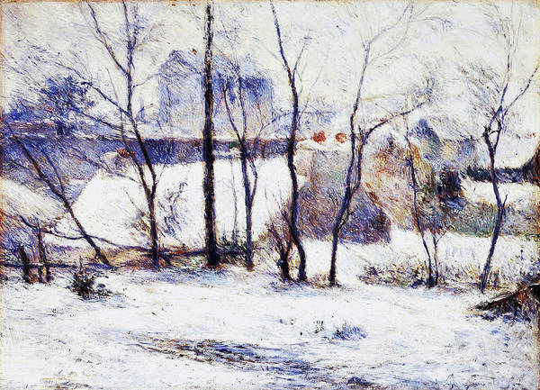 Wall Art - Painting - Garden Under Snow - Digital Remastered Edition by Paul Gauguin