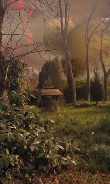 Digital Art - Garden Well Offworld by Abbie Shores