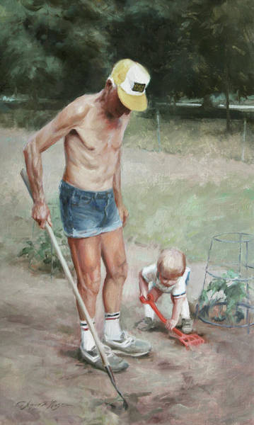 Wall Art - Painting - Gardeners by Anna Rose Bain