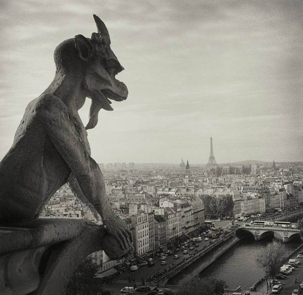 Gargoyle Of Notre Dame Art Print