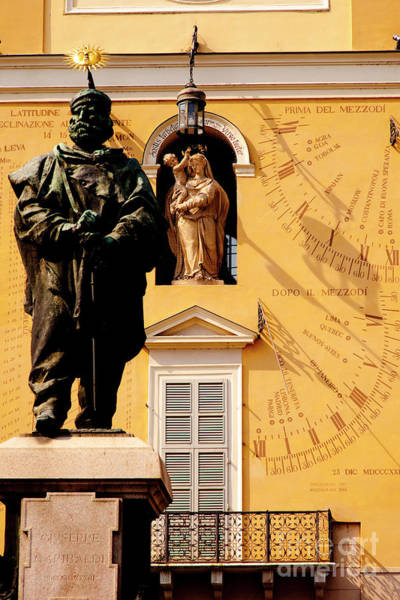 Photograph - Garibaldi Statue And Astronomical Clock by Brian Jannsen