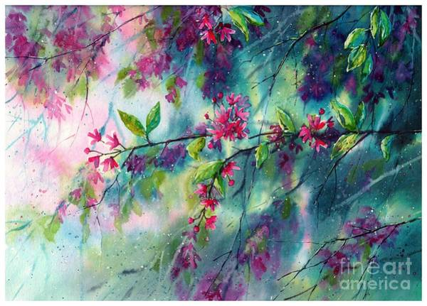 Grace Painting - Garlands Full Of Flowers by Suzann's Art
