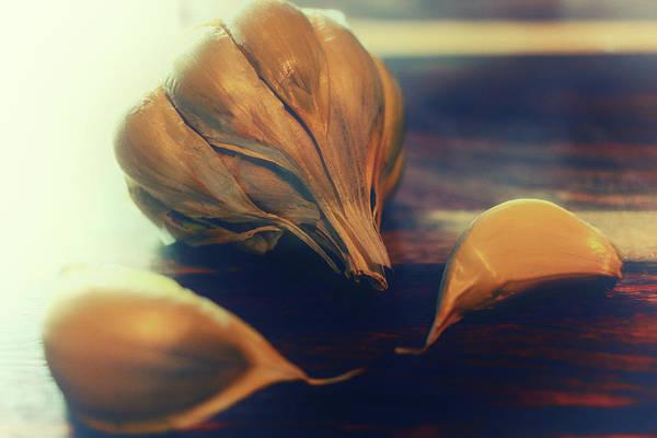 Wall Art - Photograph -  Garlic Art by Marnie Patchett
