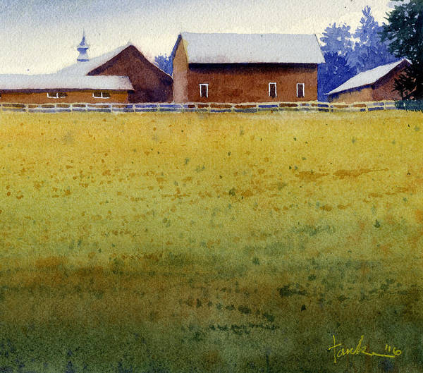 Painting - Garner Farm, Mineral Point, Wi by James Faecke