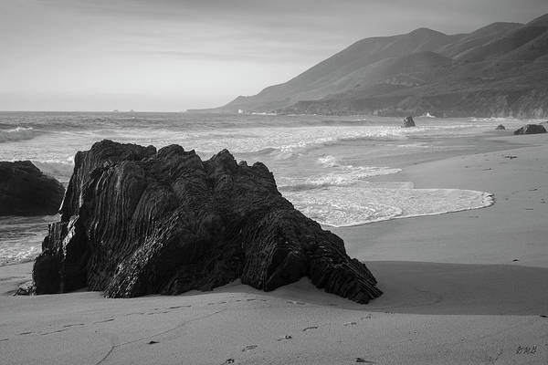 Photograph - Garrapata Beach Vi Bw by David Gordon