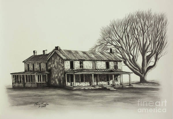 Wall Art - Drawing - Garred House by Lena Auxier