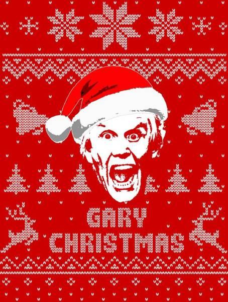 Wall Art - Digital Art - Gary Busey Christmas Shirt by Filip Hellman