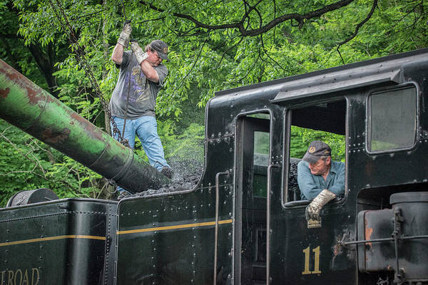 Wall Art - Photograph - Gary Cassell, The Engineer On Cass Scenic Railroad Shay 11 by Jim Pearson