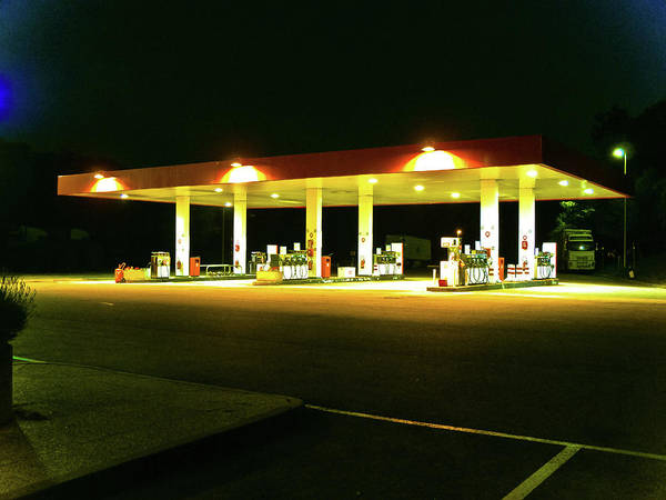 Pump Photograph - Gas Station by Homemade Photography