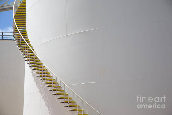 Power Station Wall Art - Photograph - Gas Tank Of Oahu Hawaii Island by Kao