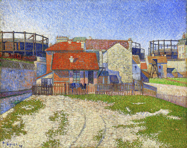 Neo-impressionism Wall Art - Painting - Gasometers At Clichy - Digital Remastered Edition by Paul Signac