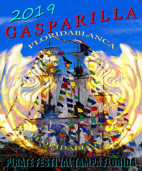 Wall Art - Painting - Gasparilla 2019 Work A by David Lee Thompson