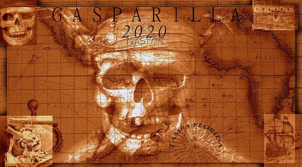 Wall Art - Mixed Media - Gasparilla 2020 by David Lee Thompson