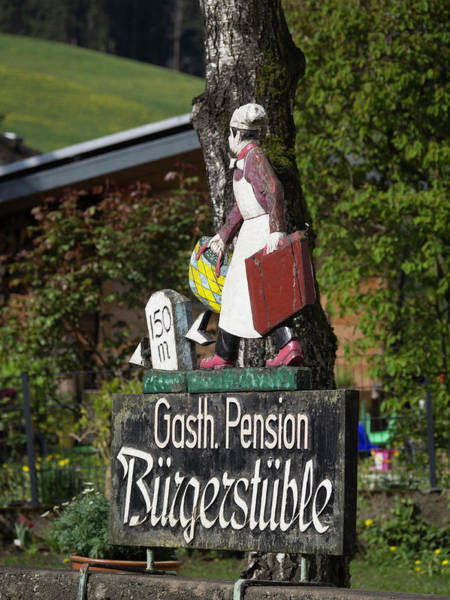 Wall Art - Photograph - Gasthaus Pension Sign by Teresa Mucha