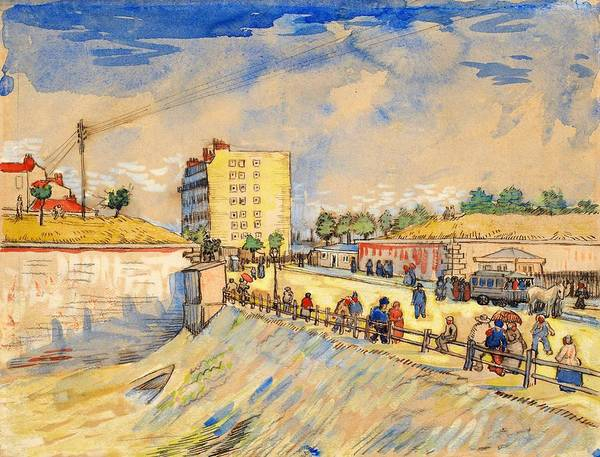 Wall Art - Painting - Gate In The Paris Ramparts - Digital Remastered Edition by Vincent van Gogh