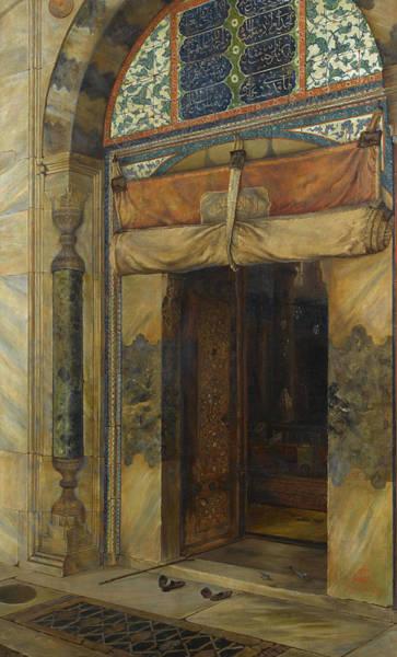 Artifact Painting - Gate Of Sultan Selim II's Tomb, 1909 by Sevket Dag