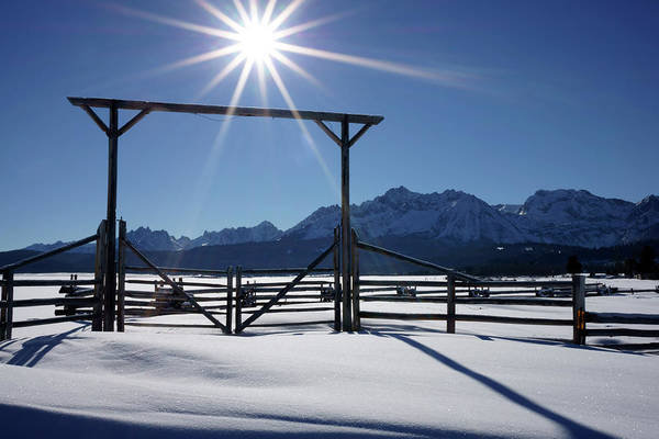 Ranch Photograph - Gate To Ranch Near Stanley, Idaho by Chlaus Lotscher